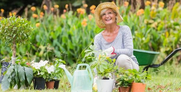 seniors container gardening