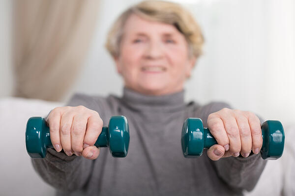 senior with copd exercises